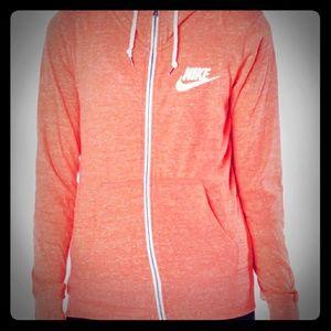 Women athletic zip up hoodie